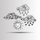 Pioggia della natura di clima del fondo del tempo del cielo di vettore royalty illustrazione gratis