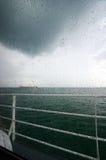 Pioggia della vista del mare Immagini Stock Libere da Diritti