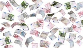 Pioggia delle banconote europee Immagine Stock Libera da Diritti