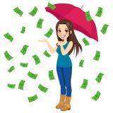 Pioggia delle fatture di soldi Immagini Stock Libere da Diritti