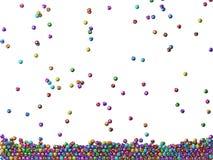 Pioggia delle palle di lotteria Immagini Stock