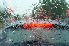 Pioggia di azionamento Fotografia Stock Libera da Diritti