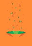 Pioggia di Digital Fotografie Stock