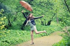 Pioggia di estate fotografia stock
