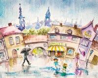 Pioggia di estate illustrazione di stock