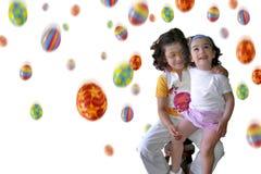 Pioggia di Pasqua nel bianco Immagine Stock Libera da Diritti