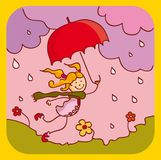 Pioggia di sorgente Fotografia Stock
