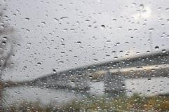 Pioggia di vetro delle gocce di acqua di struttura Fotografie Stock Libere da Diritti