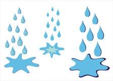 Pioggia e pozza Fotografie Stock Libere da Diritti