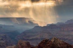 Pioggia a Grand Canyon Fotografie Stock