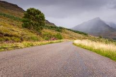 Pioggia in montagne di Torridon Fotografie Stock