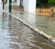 Pioggia nella città Immagini Stock Libere da Diritti