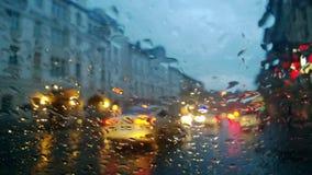 Pioggia nella città Fotografia Stock Libera da Diritti