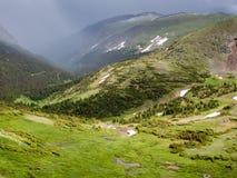 Pioggia nelle montagne Fotografia Stock Libera da Diritti