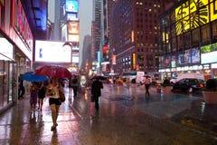 Pioggia a New York Fotografie Stock Libere da Diritti