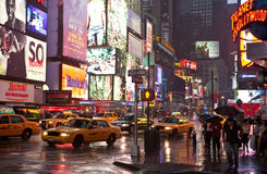 Pioggia a New York Immagini Stock
