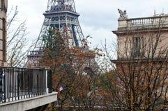 Pioggia a Parigi Fotografie Stock