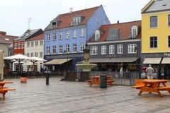 Pioggia a Roskilde, Danimarca Fotografia Stock
