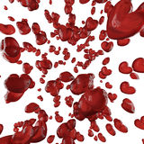 Pioggia rossa del cuore Fotografia Stock Libera da Diritti