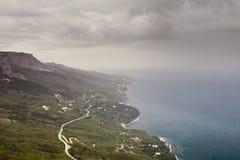 Pioggia sopra il mare Fotografie Stock Libere da Diritti