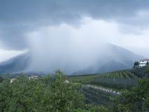 Pioggia sopra il Tirolo Immagine Stock
