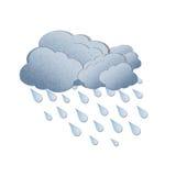Pioggia su priorità bassa bianca Immagini Stock Libere da Diritti