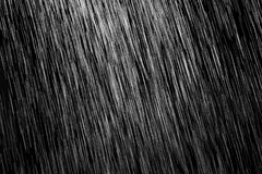 Pioggia su un fondo nero fotografia stock libera da diritti