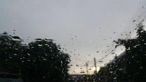 Pioggia su vetro Immagine Stock Libera da Diritti