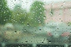 Pioggia su vetro Fotografie Stock Libere da Diritti