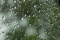Pioggia su vetro Fotografie Stock