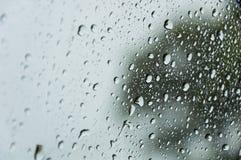 Pioggia su vetro Fotografia Stock Libera da Diritti
