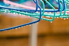 Pioggia sui ganci un giorno piovoso fotografia stock libera da diritti