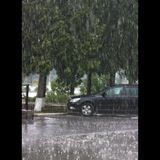 pioggia sul parcheggio Immagini Stock Libere da Diritti