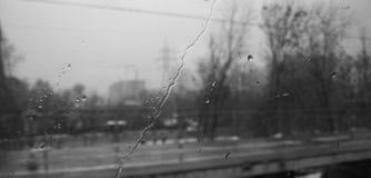 Pioggia sulla finestra Immagine Stock Libera da Diritti