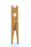 Pioli di legno del panno Fotografia Stock Libera da Diritti