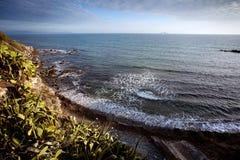 piombino岩石海滨 免版税图库摄影