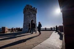 Piombino, Тоскана, Италия - аркада Bovio Стоковая Фотография