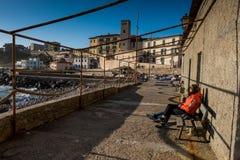 Piombino, Тоскана, Италия - гавань Стоковое Изображение