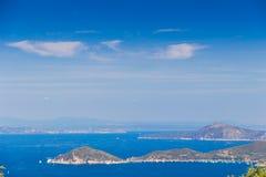 Piombino channel seen from Elba island Stock Photos