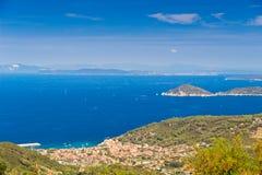 Piombino channel seen from Elba island Royalty Free Stock Image