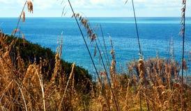 Piombino, Salivoli, Livorno, beautiful view and tyrrhenian sea Royalty Free Stock Image