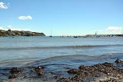 Piombino, Salivoli, Livorno, coast, sky, boats and tyrrhenian sea Stock Image