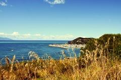 Piombino, Salivoli, Livorno, landscape and tyrrhenian sea Royalty Free Stock Photography