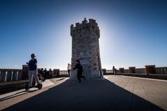 Piombino Tuscany, Italien - piazza Bovio Fotografering för Bildbyråer