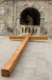 Piombo trasversale di legno a Christ Immagine Stock Libera da Diritti
