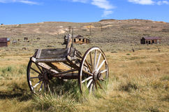 Pioneer Coach. Now sits derelict and abandoned on a western prairie stock photos