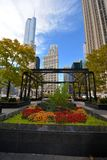 Pioneer Court in Fall Colors Stock Image