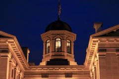Pioneer courthouse at night royalty free stock photography