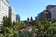 Pioneer Courthouse Square, Portland Stock Photo