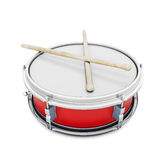 Pioneer drum isolated on white background Royalty Free Stock Photos